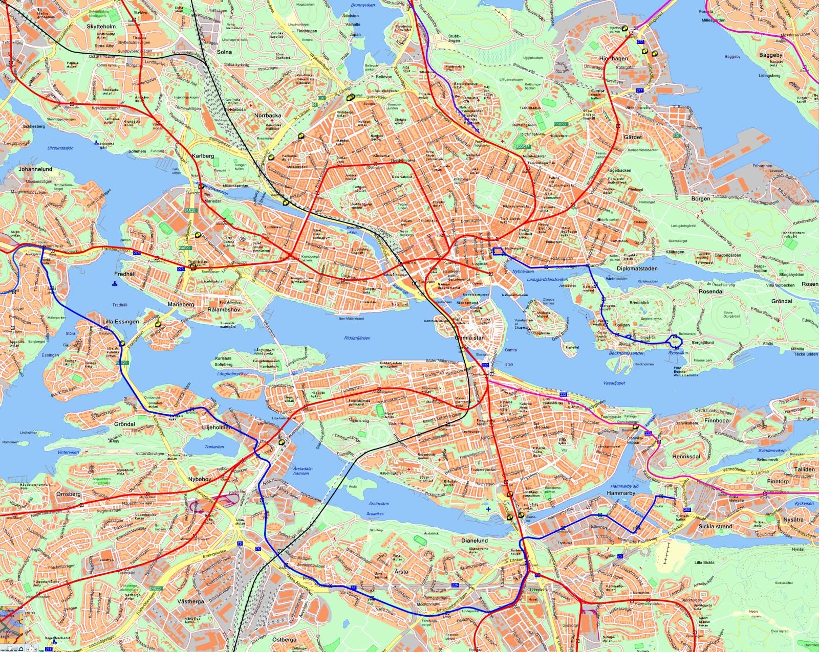 Mapas Detallados De Estocolmo Para Descargar Gratis E Imprimir