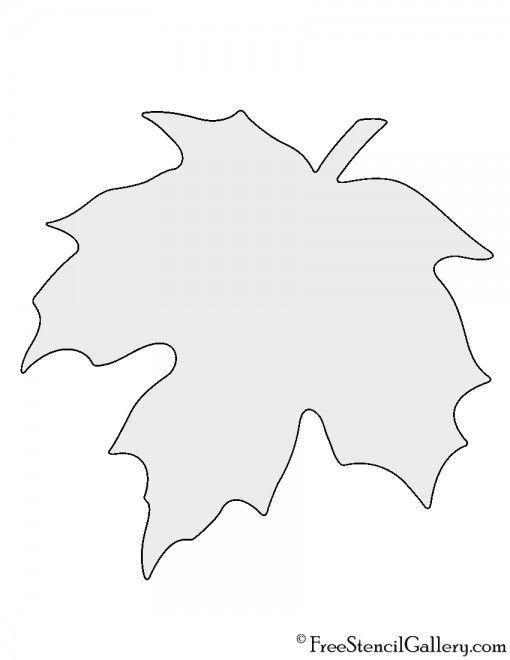 Maple Leaf Stencil Brico papier Leaf Stencil