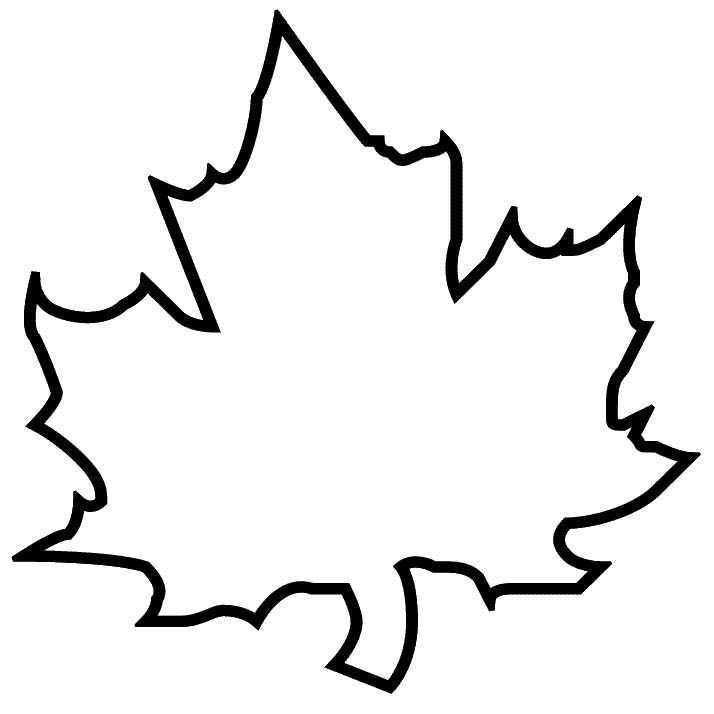 Maple Leaf Stencil ClipArt Best