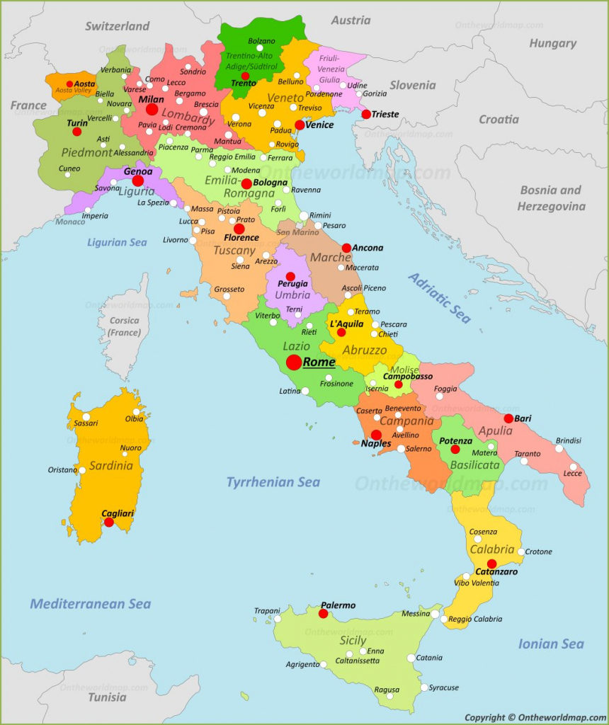 Maps Of Italy Detailed Map Of Italy In English Tourist