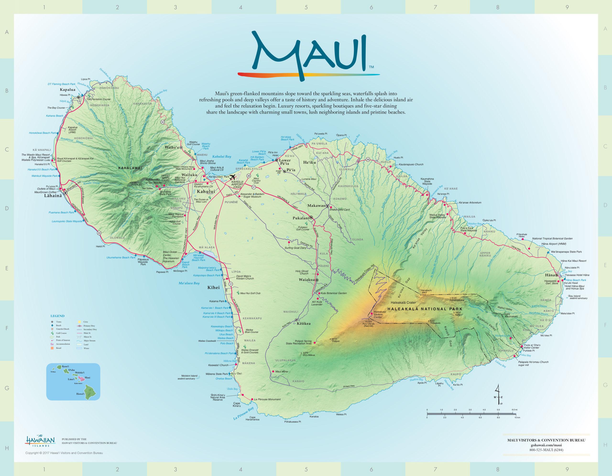 Maui Maps Go Hawaii