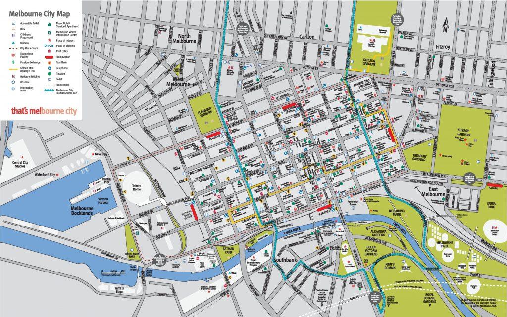 Melbourne Cbd Map Printable City Street Maps Printable