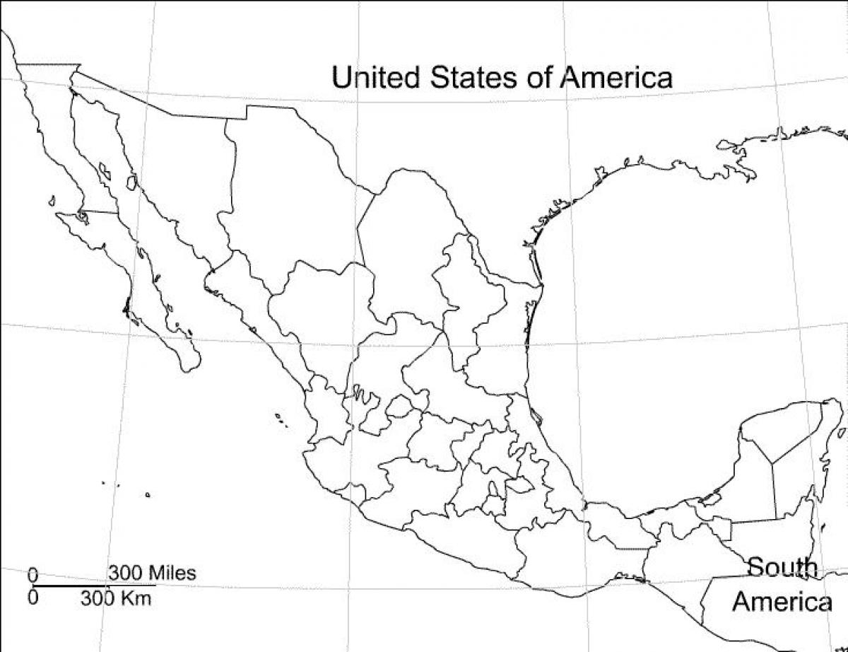 Mexico Blank Map Mexico Map Blank Central America