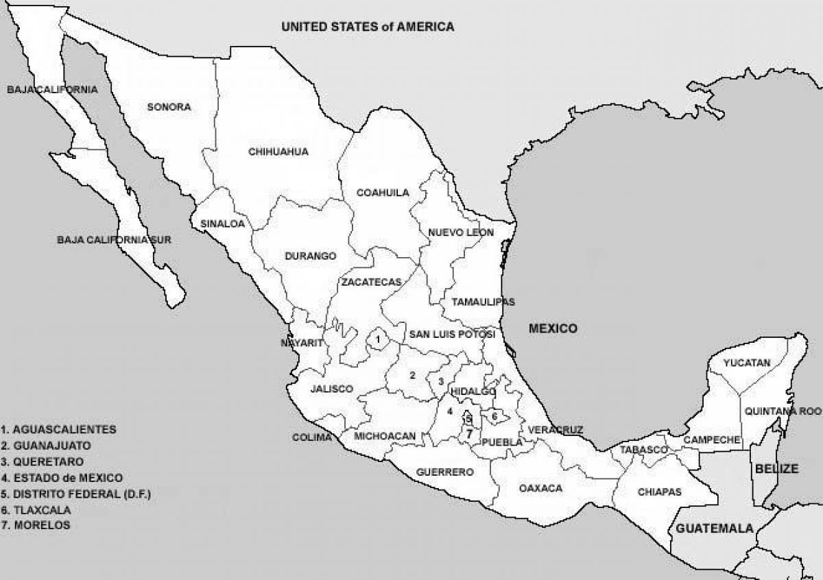 Mexico Counties Map Map Of Mexico Counties Central