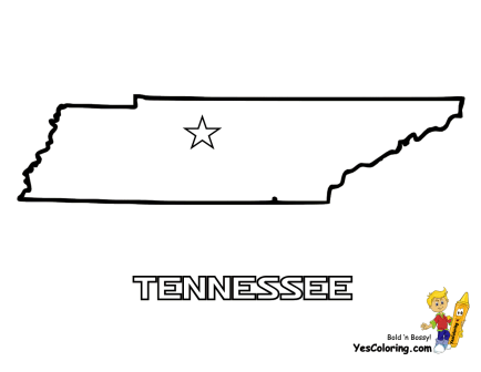 Mountains To Prairies Map Coloring USA Tennessee