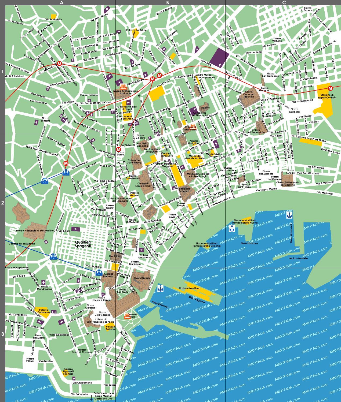 Napoli Mappa Turistica Napoli Mappa Turistica Campania