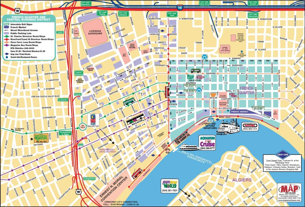 New Orleans French Quarter Tourist Map New Orleans