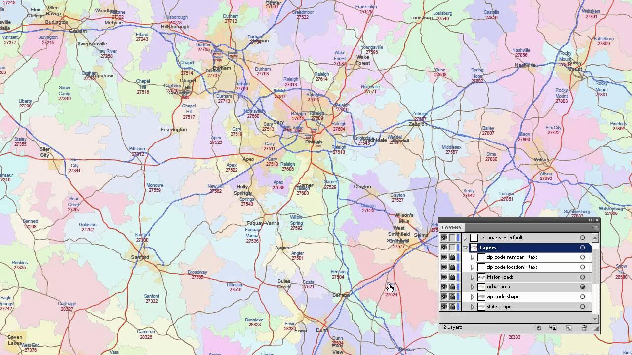 North Carolina Zip Code Map YouTube