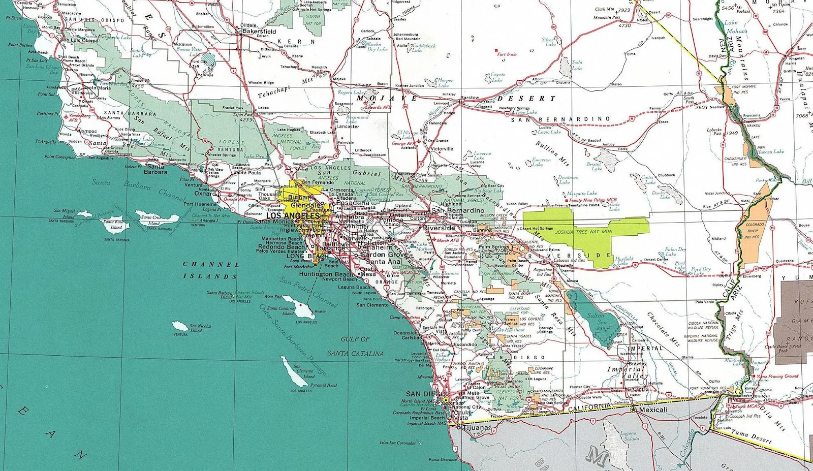 Online Maps Southern California Road Map