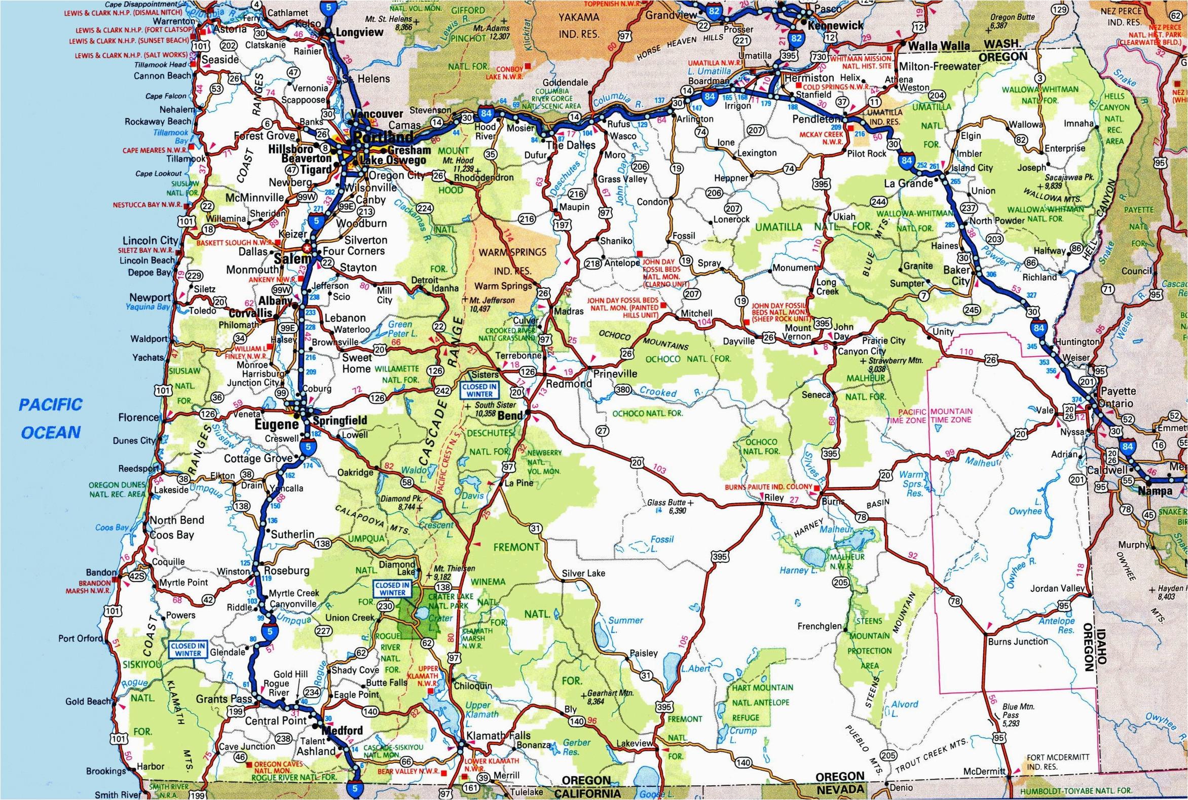 Oregon Road Map Online Secretmuseum