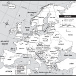 Outline Map Of Europe Countries And Capitals With Map Of