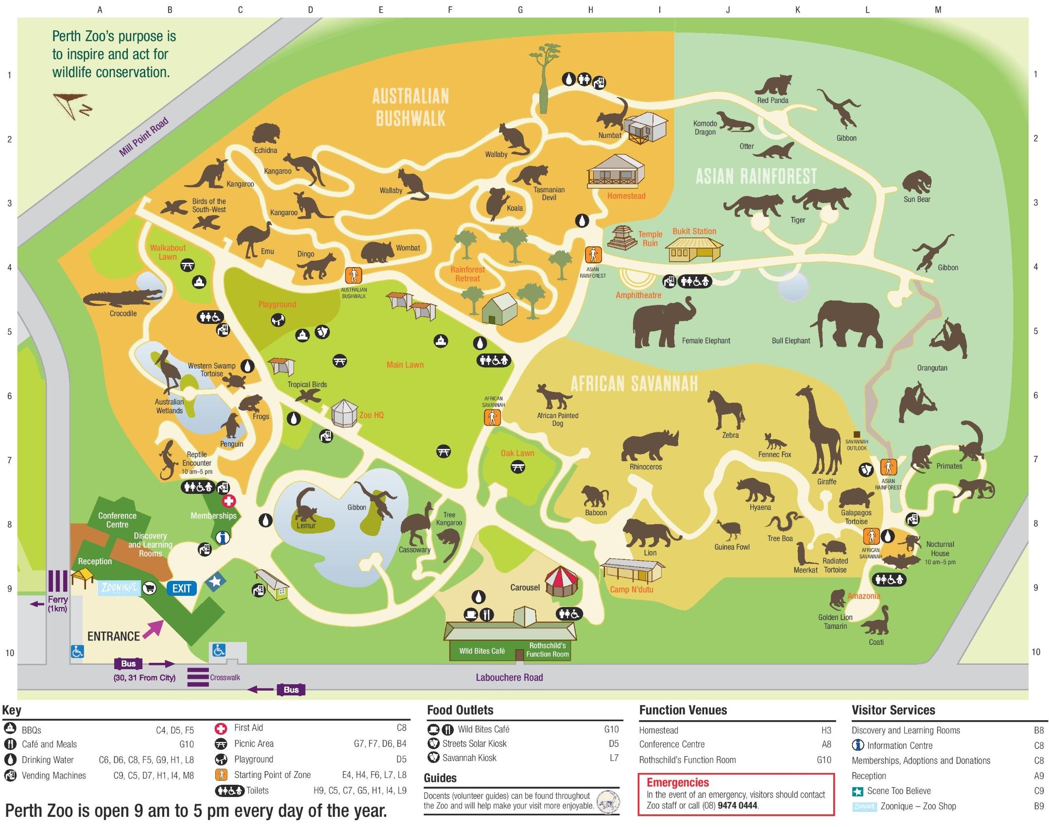 Perth Zoo Map