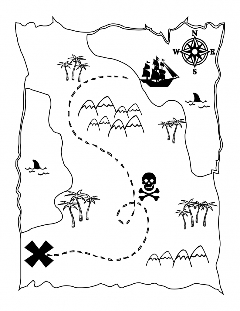 Printable Blank Treasure Maps For Children Diy Pirat