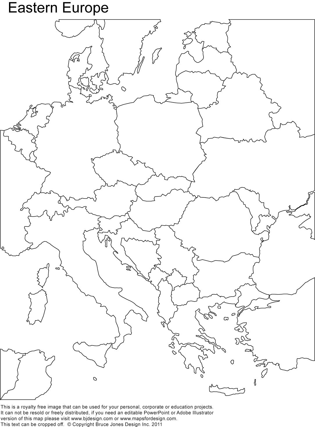Printable Map Of Europe Blank Time Zones Map