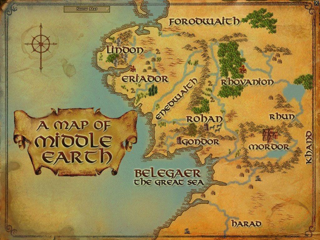 Printable Map Of Middle Earth Printable Maps