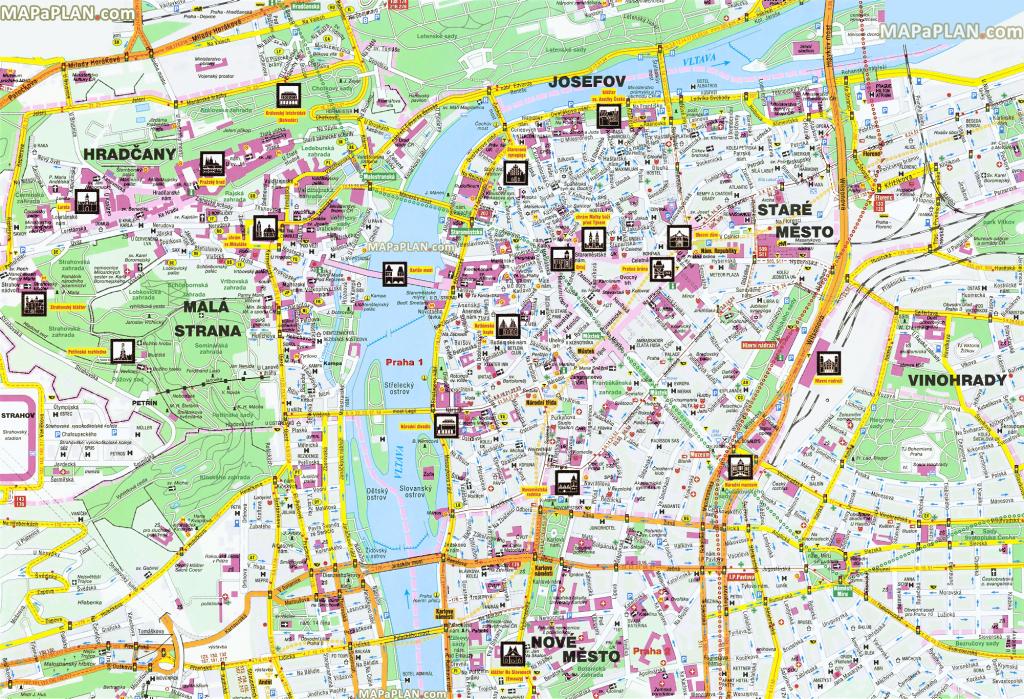 Printable Map Of Prague City Centre Printable Maps