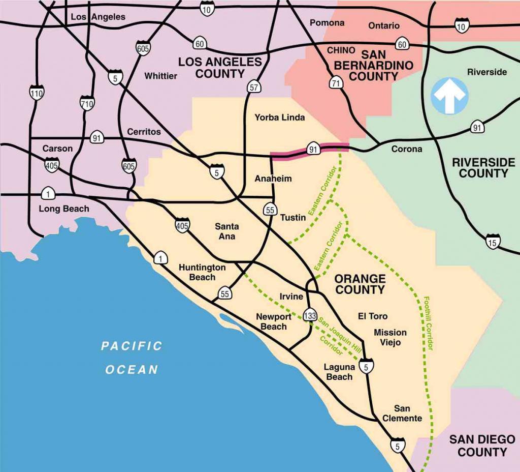 Printable Map Of Southern California Freeways Printable Maps