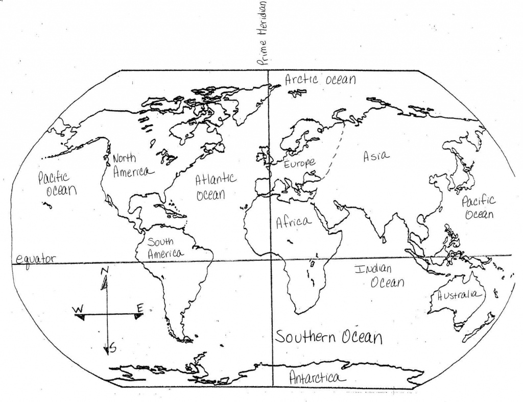 Printable Map Of The 7 Continents And 5 Oceans Free