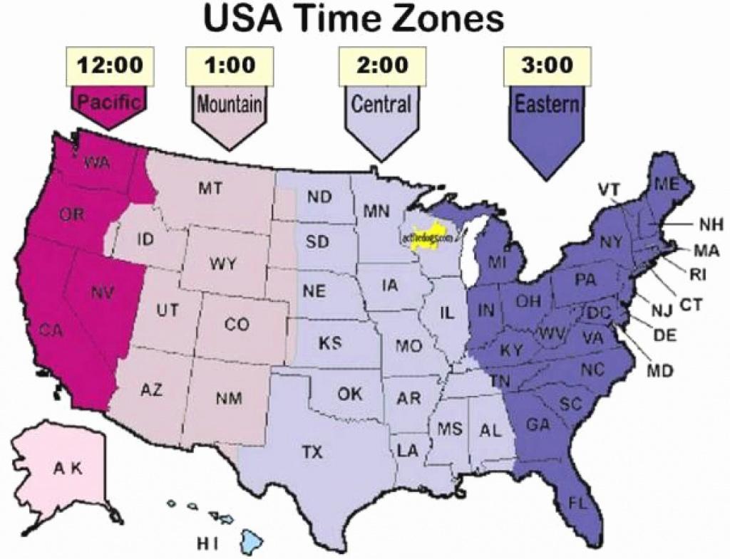Printable Map Of Usa Time Zones Printable US Maps