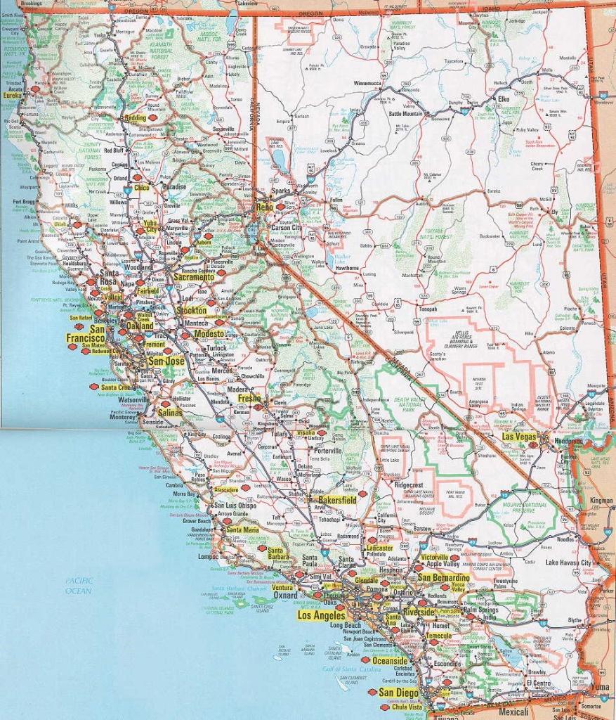Printable Road Map Of Southern California Printable Maps