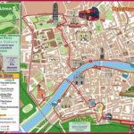 Printable Tourist Map Of Pisa Walk Maps Florence Italy