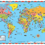 Printable World Map For Kids Incheonfair Throughout For