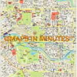 Royalty Free Melbourne Illustrator Vector Format City Map