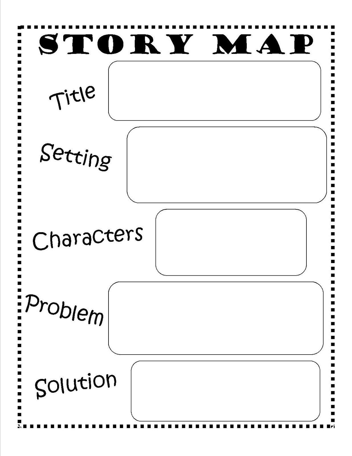 Story Map FREE Printable reading writing kids Story