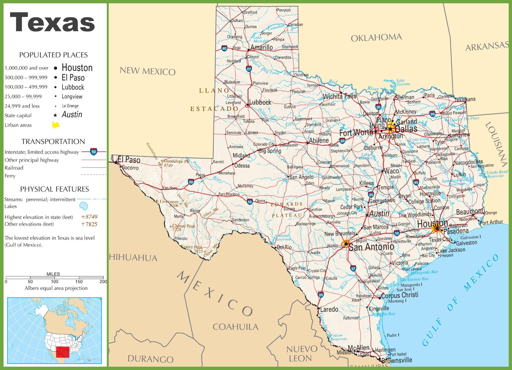 Texas Highway Map