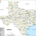 Texas State Map With Cities Texas State Map Texas Map