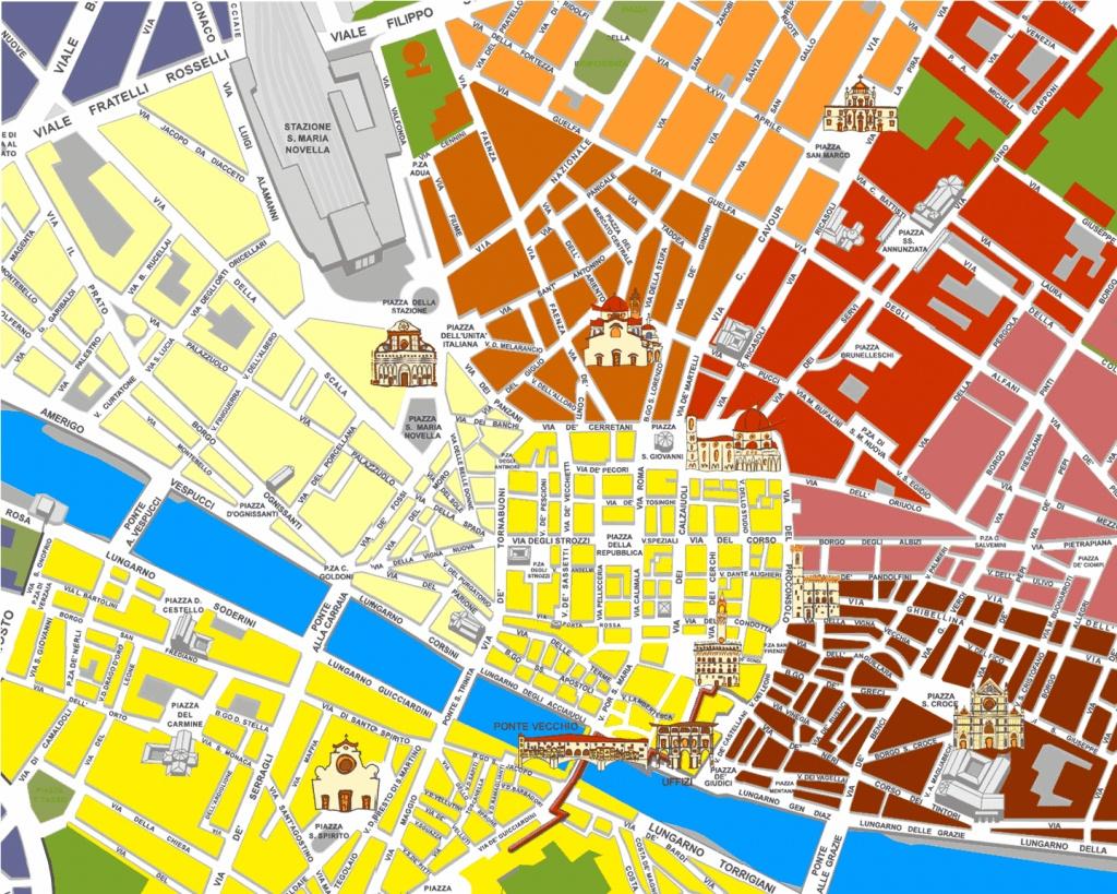 Tourist Map Of Florence Italy Printable Printable Maps