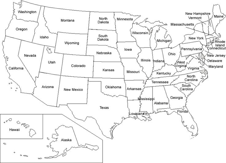 US Map Coloring Pages United States Map Labeled United
