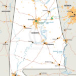 Vector Map Of Alabama Political One Stop Map Throughout