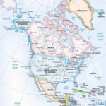 Vector Map Of North America Continent One Stop Map