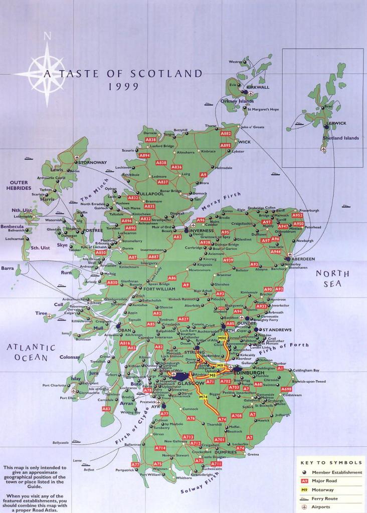 Wildlife Map Of Scotland Printkate Mclelland Shop