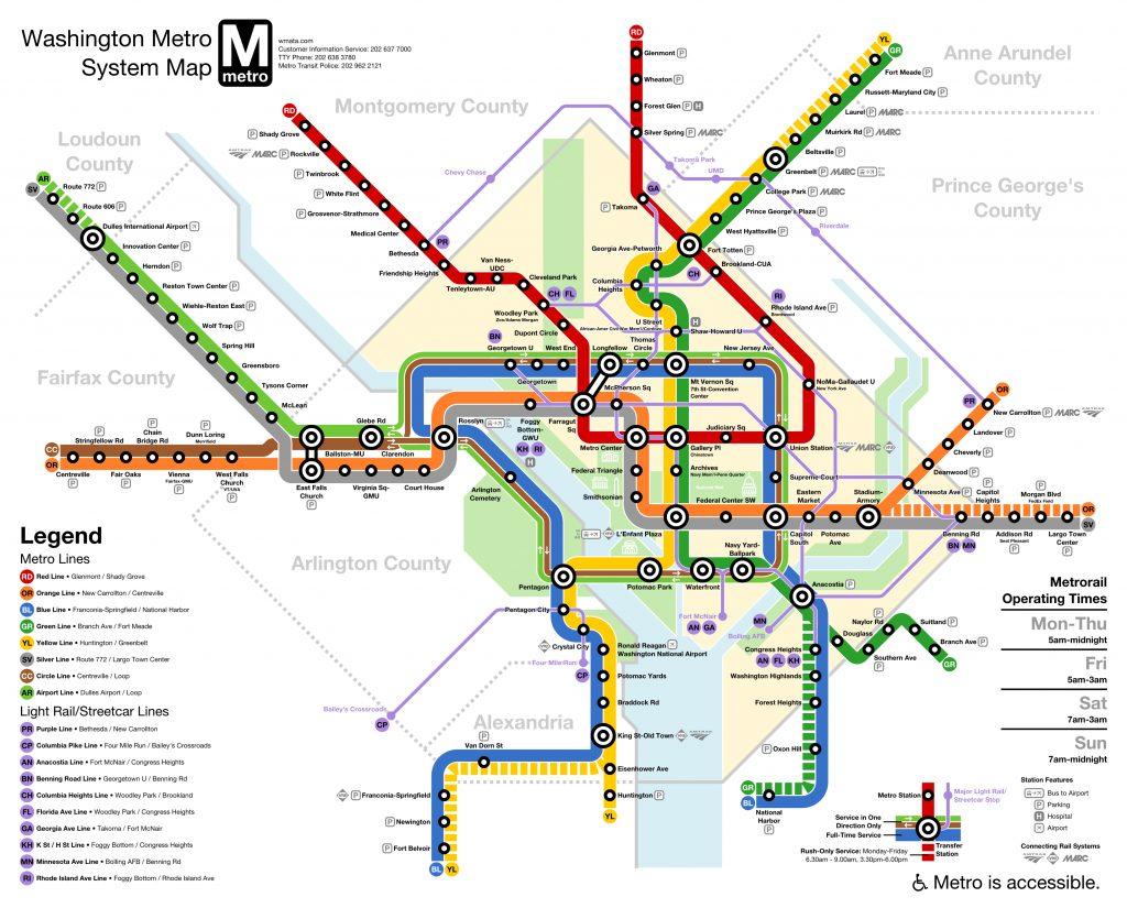 Wmata Washington Dc Metro Downtown Loop Line Subway
