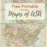 Wonderful Free Printable Vintage Maps To Download Map