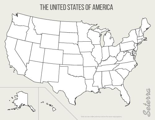 01 Blank Printable US States Map pdf Map Quiz Us Map