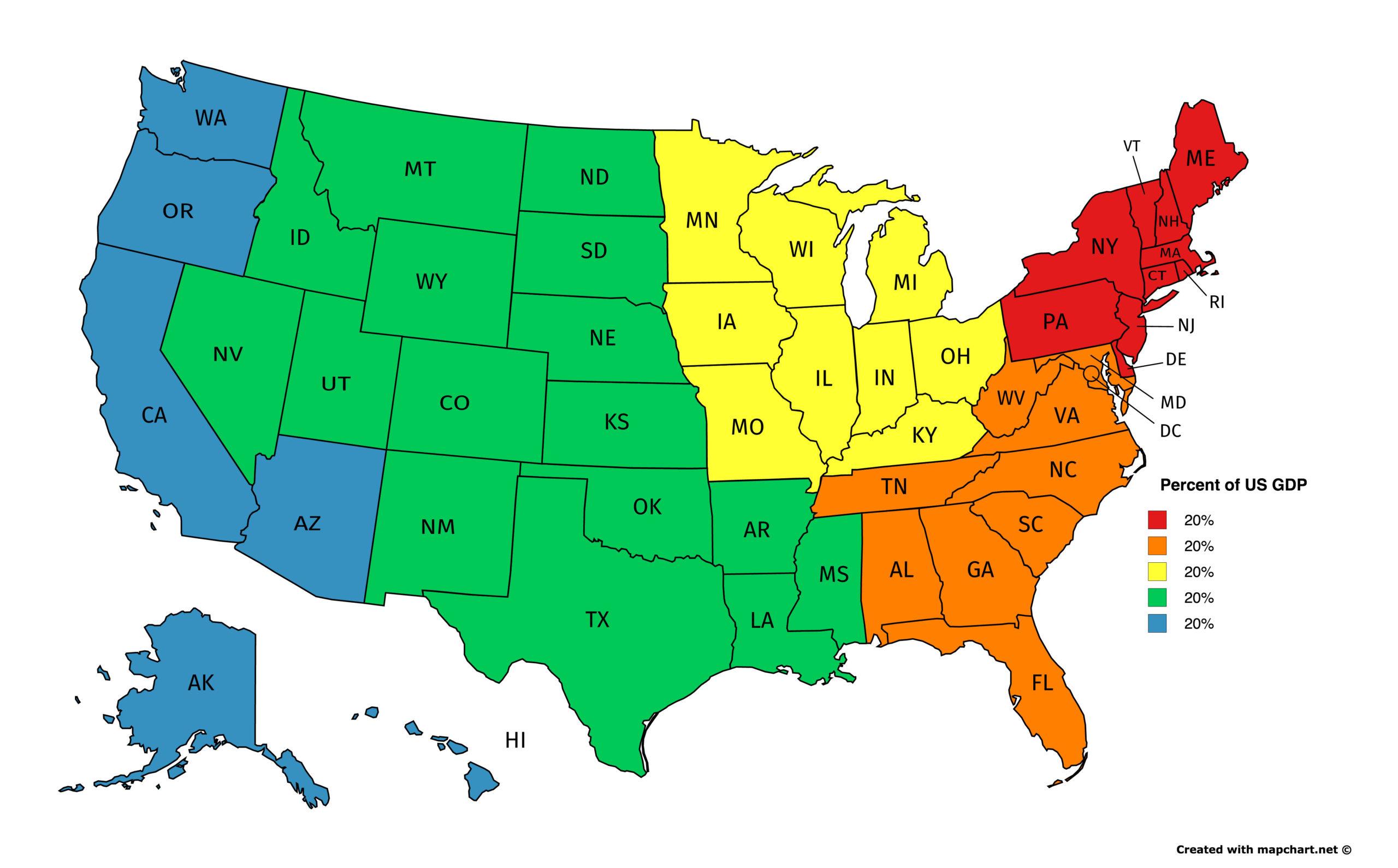 10 Elegant 5 Regions Of The United States Printable Map