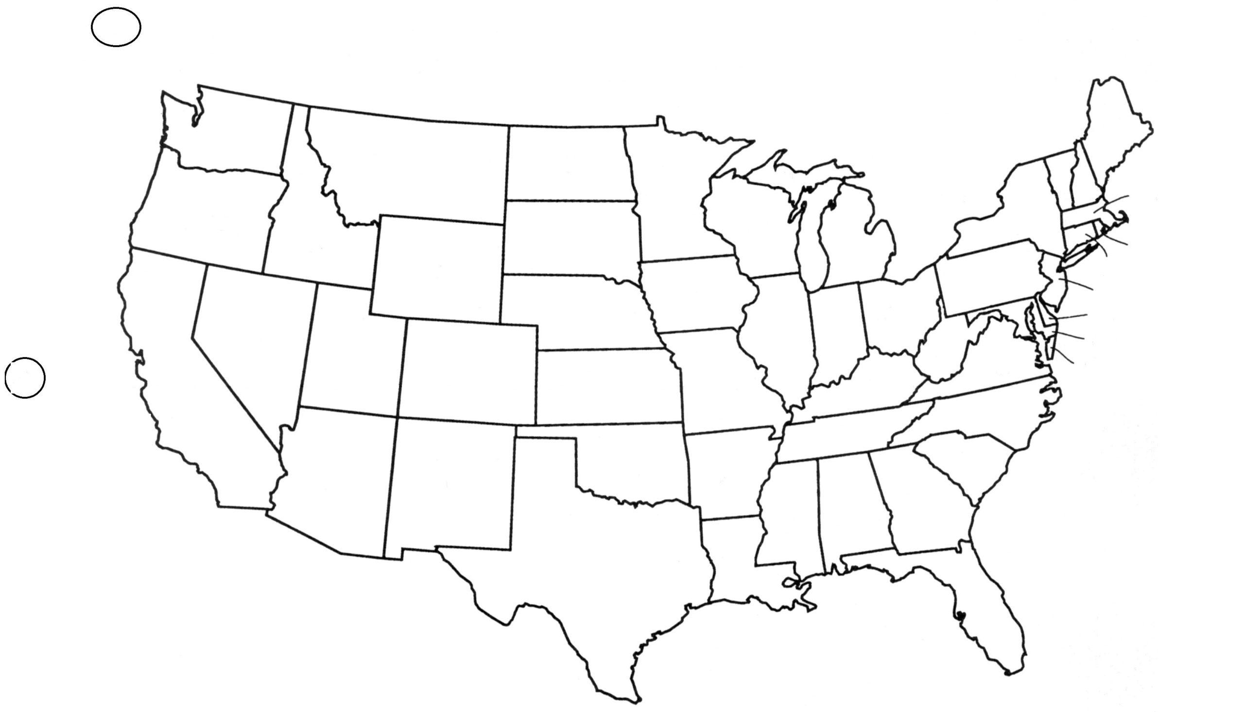 10 Elegant Printable Blank Map Of The United States Pdf
