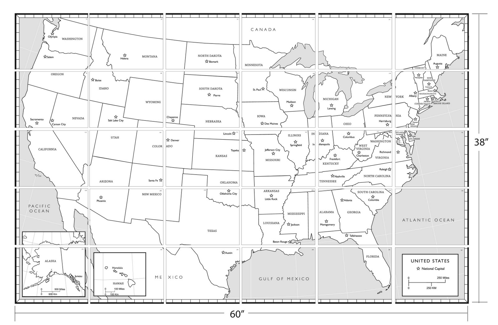 11 Best Images Of States And Capitals Quiz Worksheet