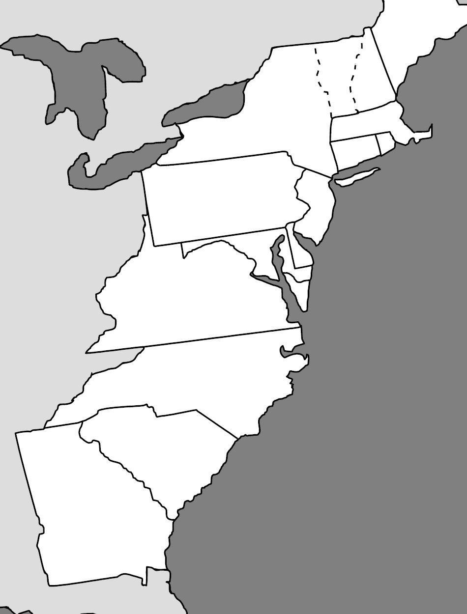 13 Colonies Blank Map Printable Printable Maps