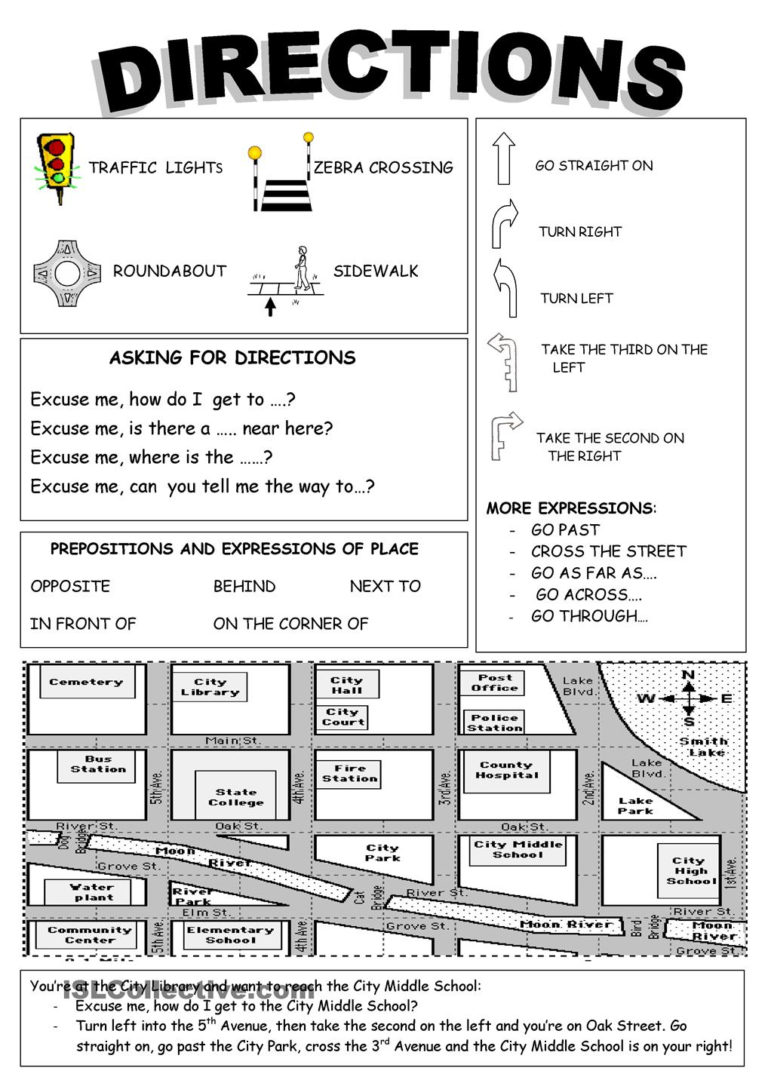 15 Best Images Of Primary English Direction Worksheet