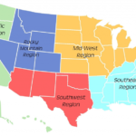 5 Regions Of The United States Printable Map Printable