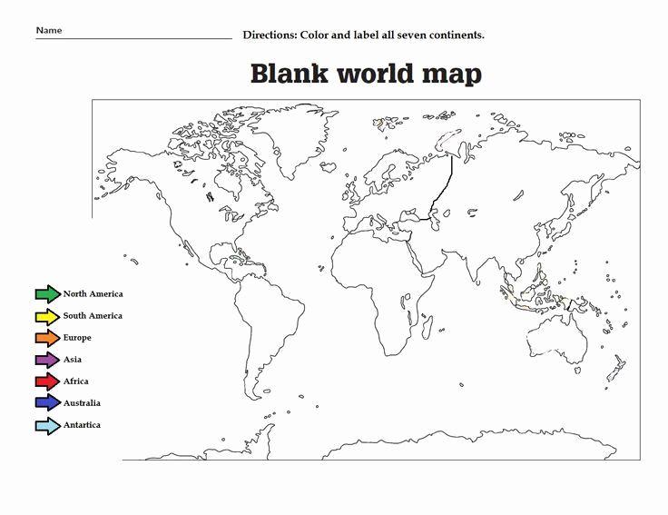 7 Continents Worksheet For Kindergarten In 2020 Blank