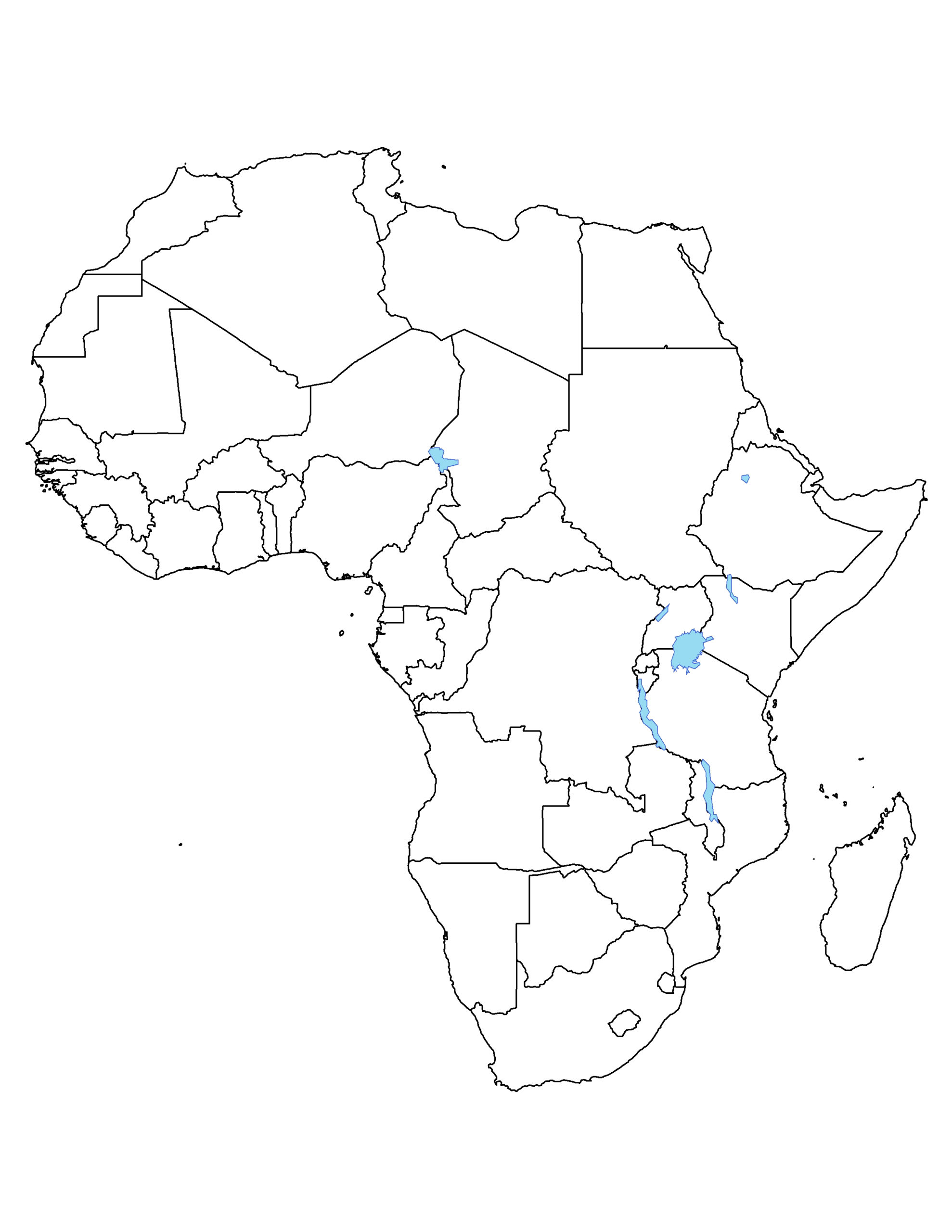 Africa Political Outline Map Full Size Gifex