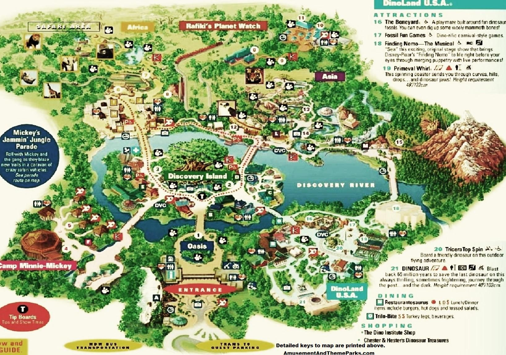 Animal Kingdom Map Disney World Trip Animal Kingdom