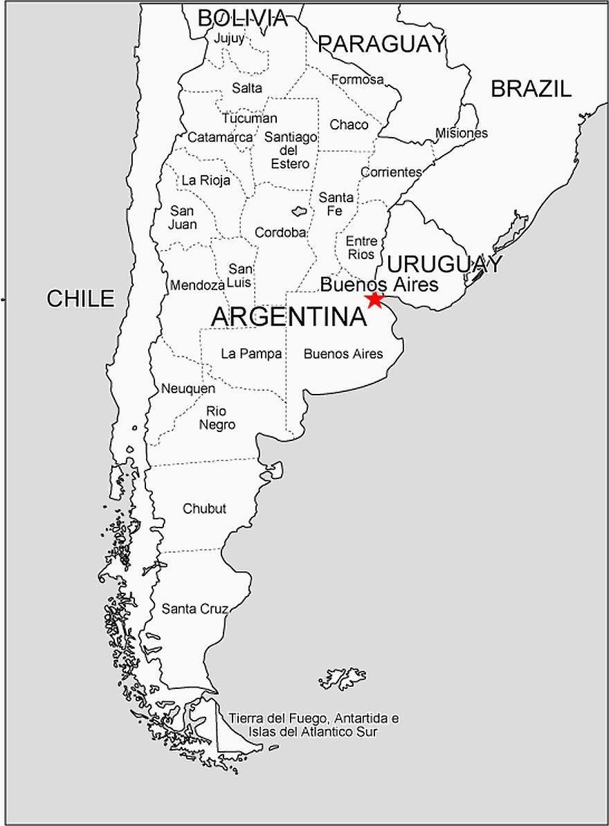 Argentina Free Vector Map