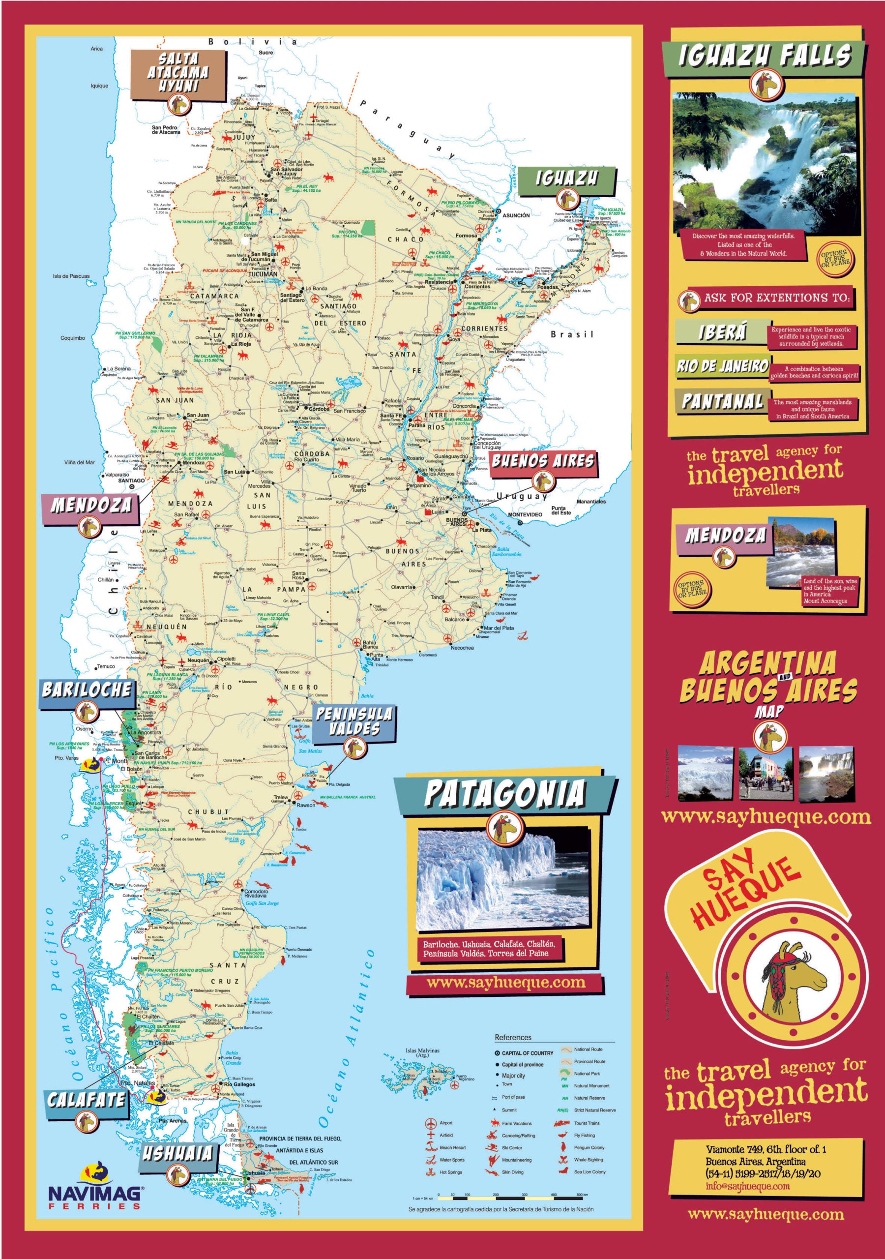 Argentina Maps Printable Maps Of Argentina For Download