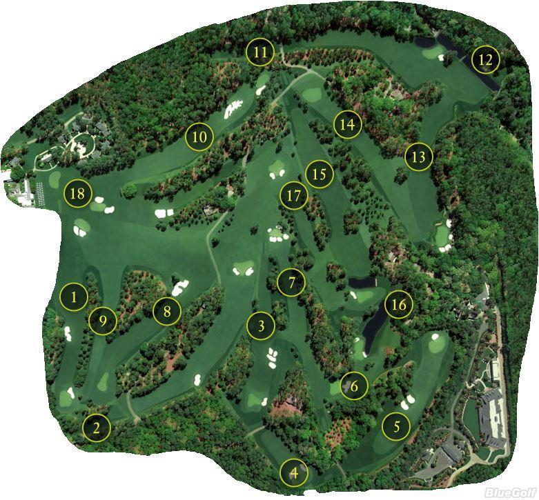 Augusta National Golf Club Layout Map Nebraska PGA